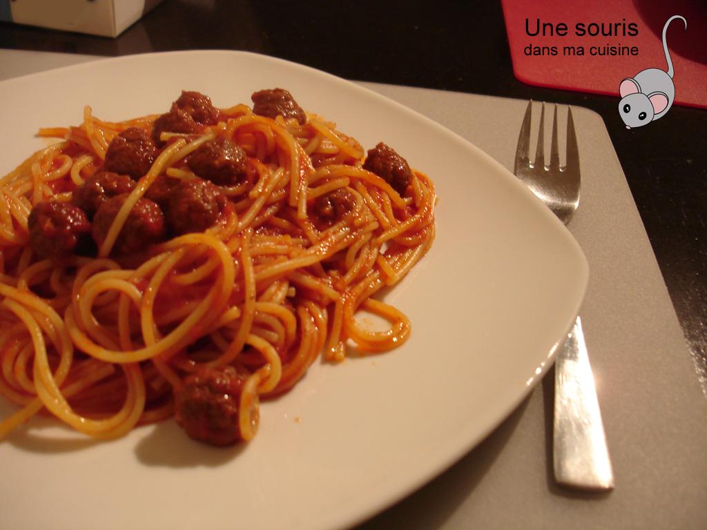 Spaghettini aux merguez
