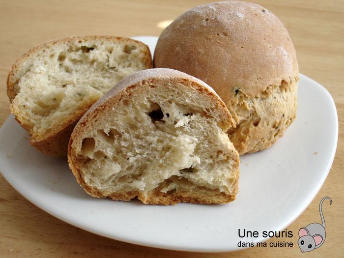 Petits pains au basilic