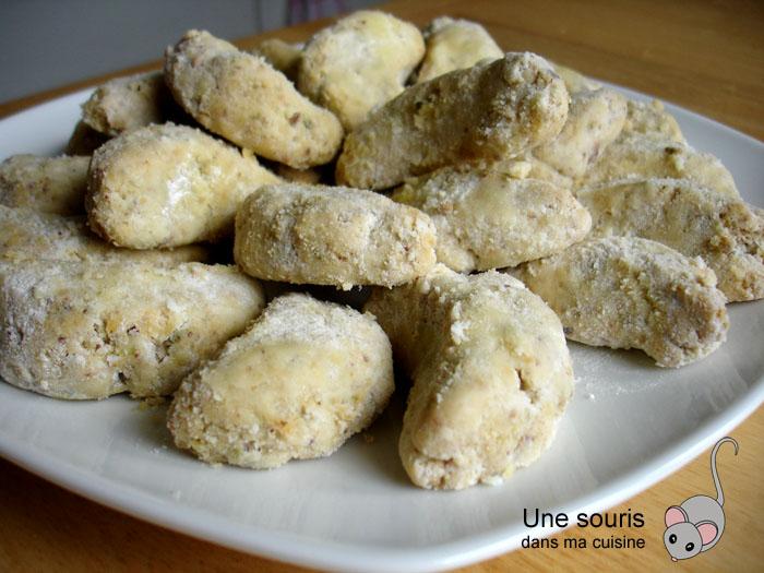 Assiette de croissants de lune