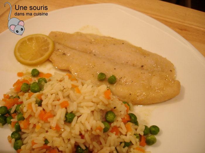 Filet de poisson et riz