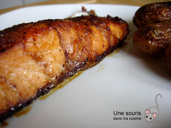 Filet de saumon à la confiture de fraises