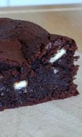 Brownie et pépites de chocolat blanc