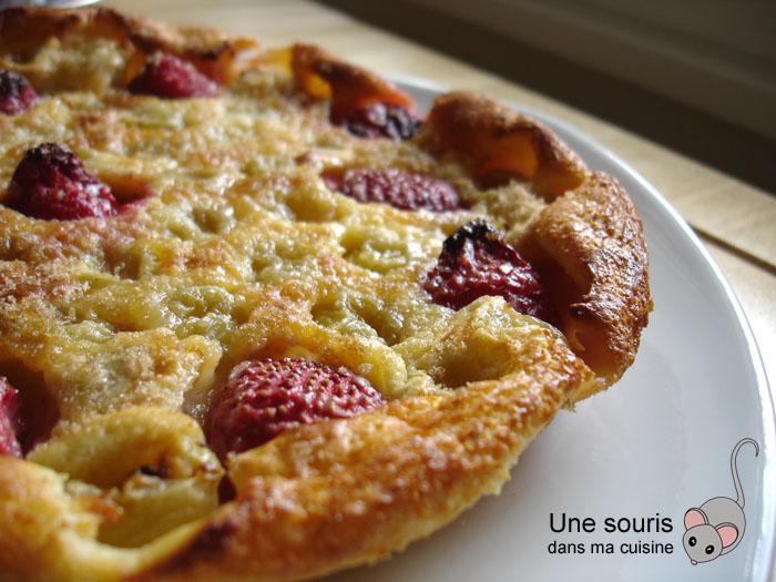 Clafoutis aux raisins et aux fraises