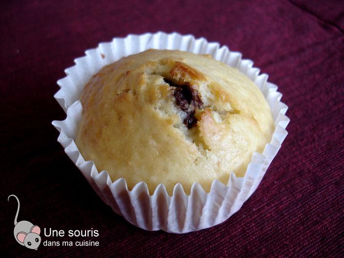 Muffin aux amandes et coeur d'azuki