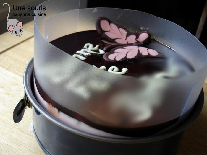 Gâteau bavarois avant le démoulage