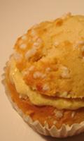 Perles de sucre sur le dessus des muffins
