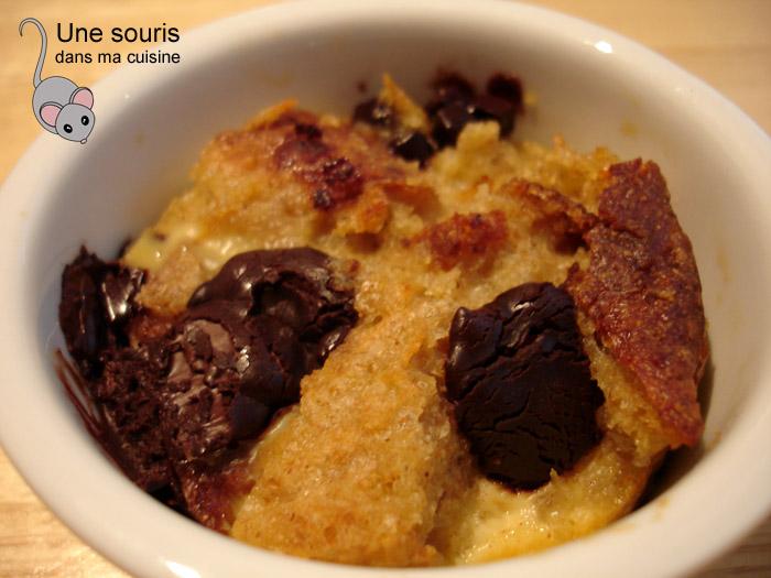 Pudding au pain et au chocolat de Louis
