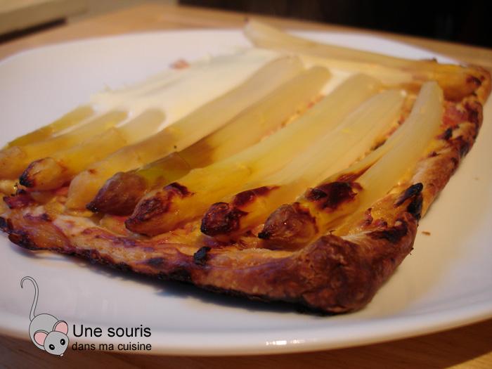Tarte aux asperges, aux oeufs et au jambon