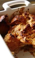 Pouding de pain et de poires