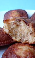 Des madeleines à la texture légère
