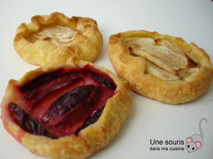 Tartelettes aux pommes ou aux pruneaux