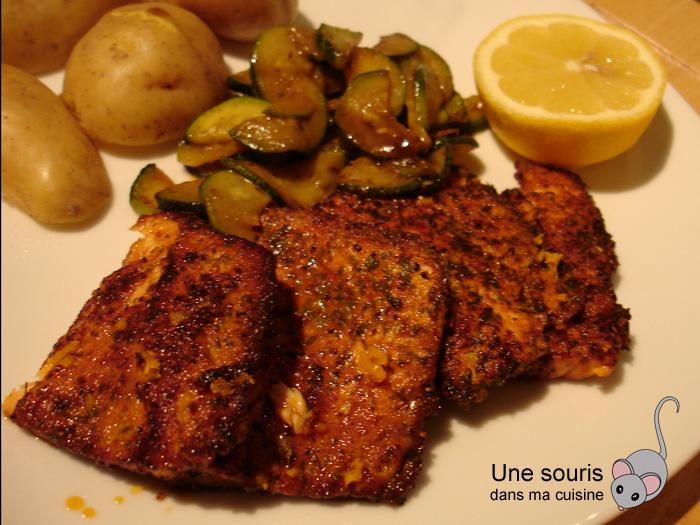 Escalopes de saumon marinées