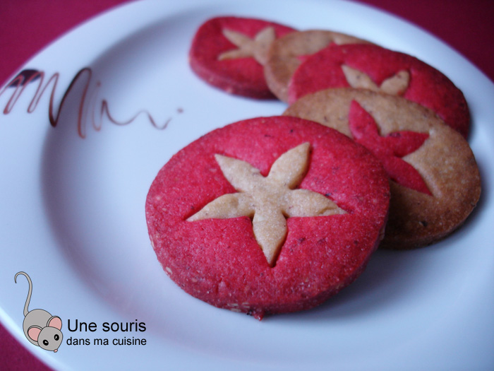 Biscuits bicolores aux noisettes