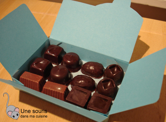 Boîte de chocolats maisons