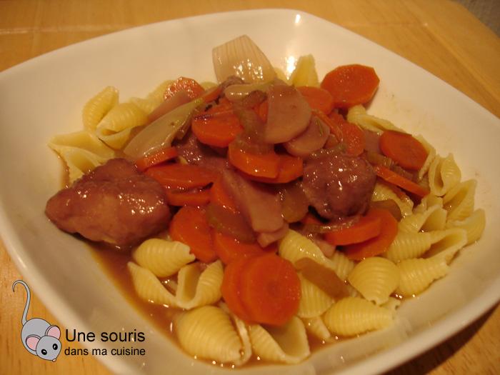 Ragoût de porc comme pour le boeuf