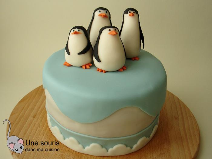 Gâteau tout chocolat, les pingouins