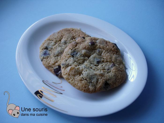 Biscuits au chocolat noir et à l'orange confite