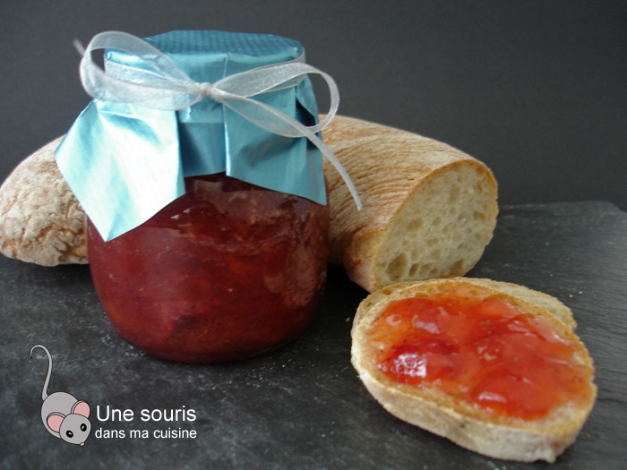 Confiture aux fraises et au melon