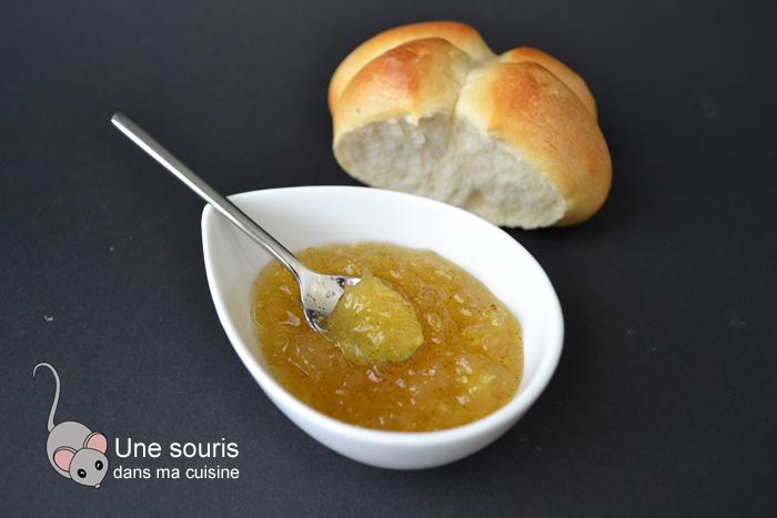 Confiture de poires et d'ananas à la vanille