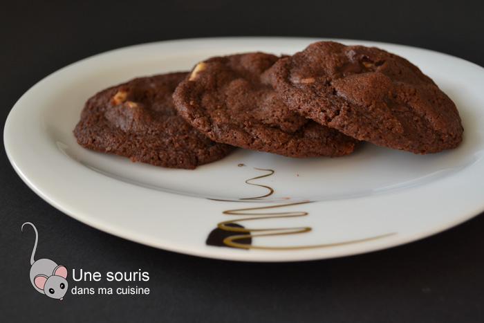 Biscuits moelleux aux trois chocolats