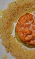 Une rose de saumon