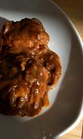 Une sauce et des oignons