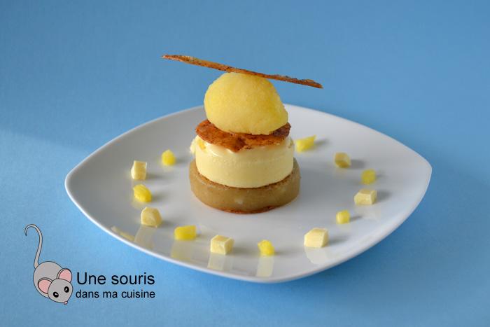 Dessert chic à la poire et à l'ananas