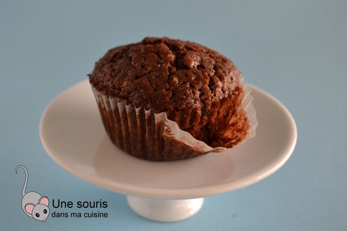 Muffins au cacao et au gruau