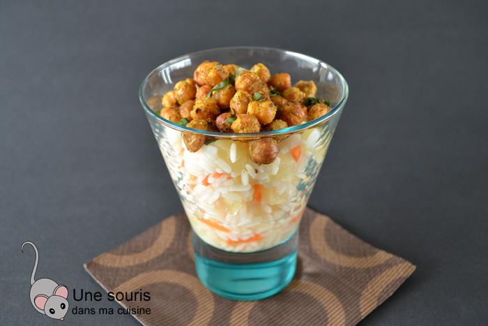 Salade de riz et de pois chiches