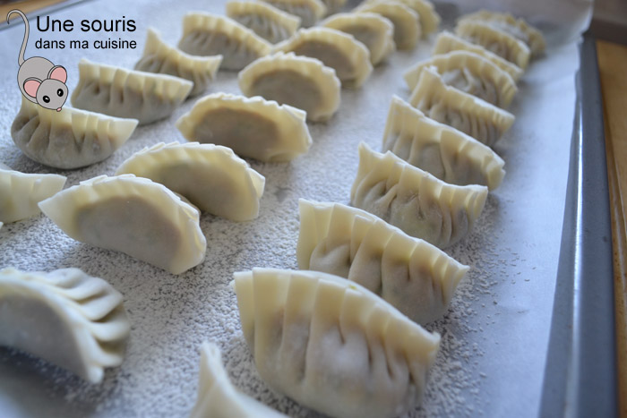 Raviolis chinois style pot stickers