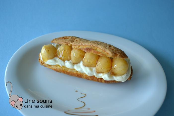 Pâte à choux aux pommes et à la vanille
