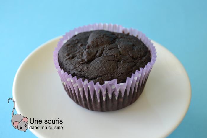 Gâteau santé au chocolat et aux bleuets