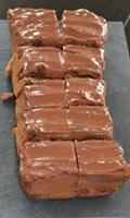 Brownie avec un glaçage