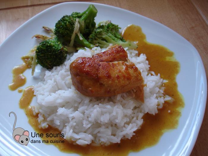 Poulet au curry et au miel