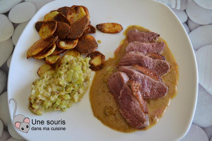 Magret de canard et sa sauce au foie gras
