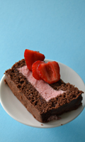 Gâteau léger fraise et chocolat