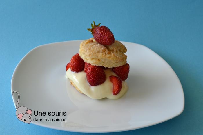Shortcakes aux fraises et au gingembre