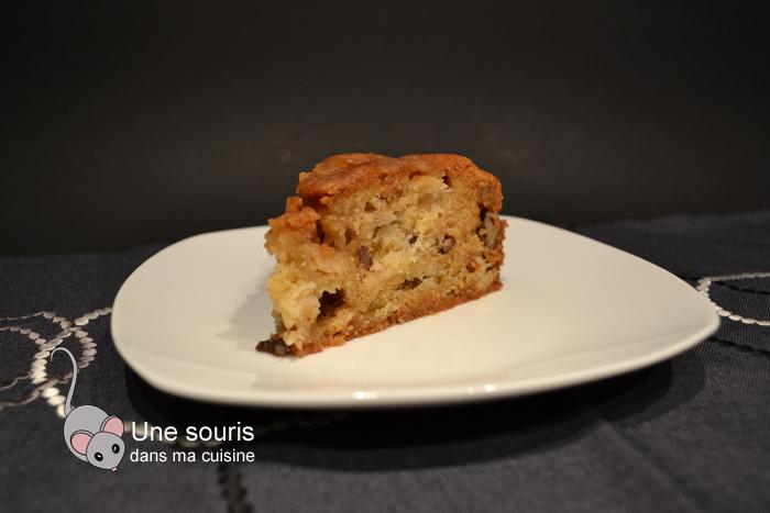 Gâteau aux pommes et aux pacanes