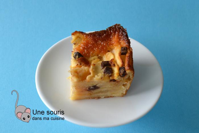 Gâteau Bolzano aux pommes et au chocolat