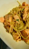 Spaghettis au citron et au saumon