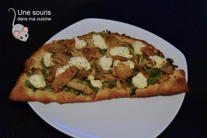 Pizza poulet et poireau
