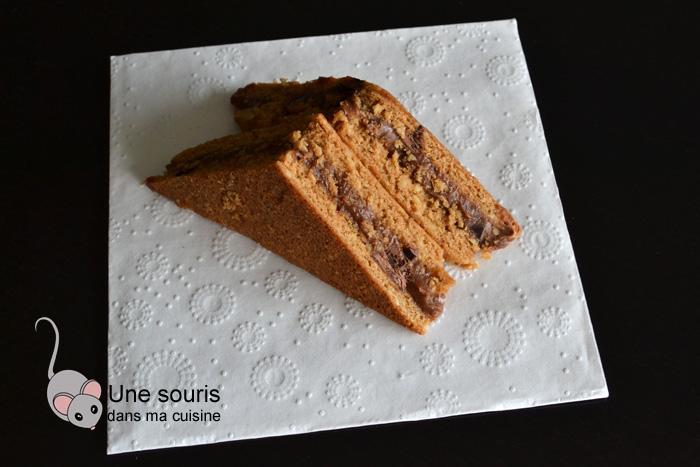 Gâteau sandwich praliné