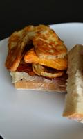 Tartines aux patates douces, au fromage et au bacon