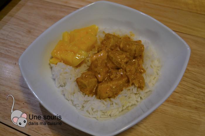 Curry de poulet et mangue