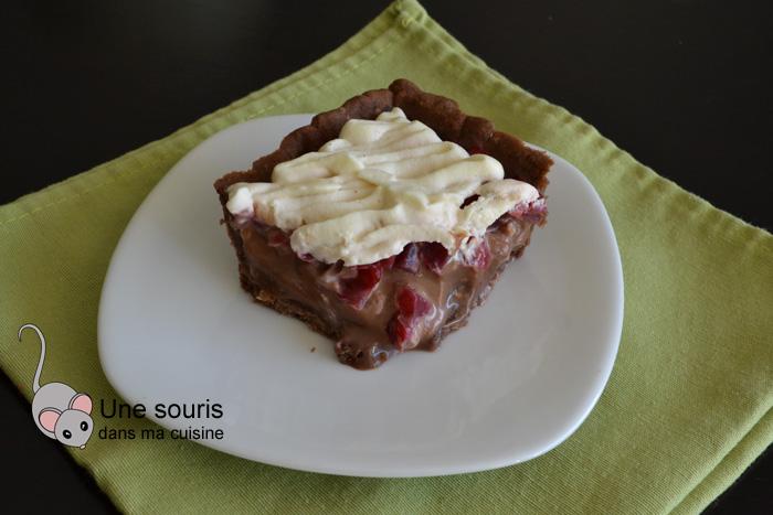 Tarte fraise-gianduja