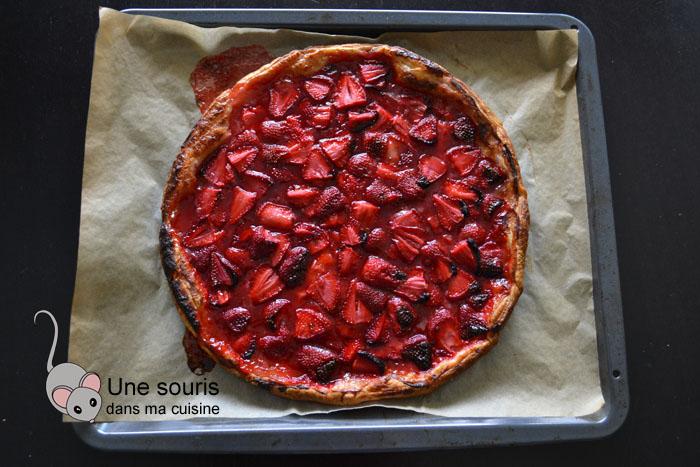 Tarte aux fraises avec 5 ingrédients