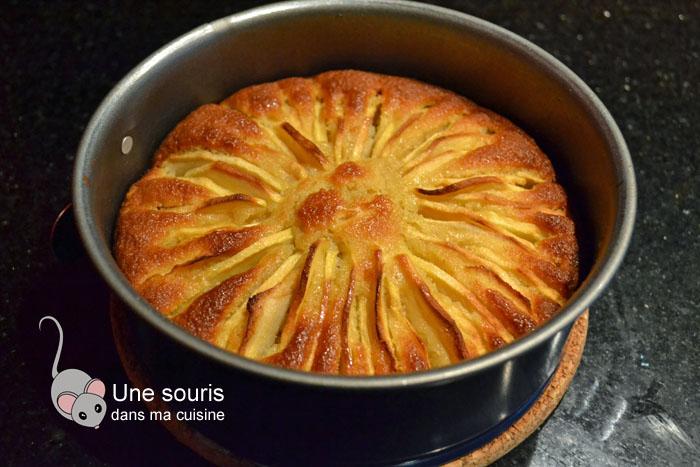 Gâteau dit kuchen aux pommes