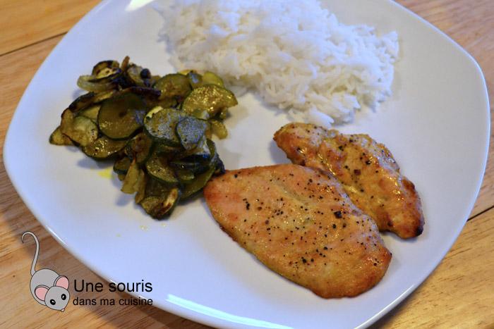 Poulet et légumes au curry