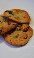 Biscuits aux brisures de chocolat, pacanes, noisettes et beurre noisette