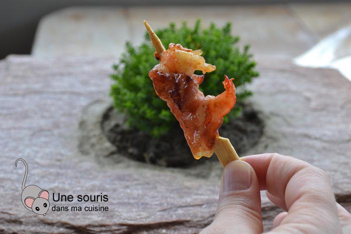 Crevettes à la pancetta et au sirop d'érable